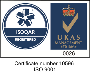 ISOQAR Regsitered and UKAS Management Systems 0026