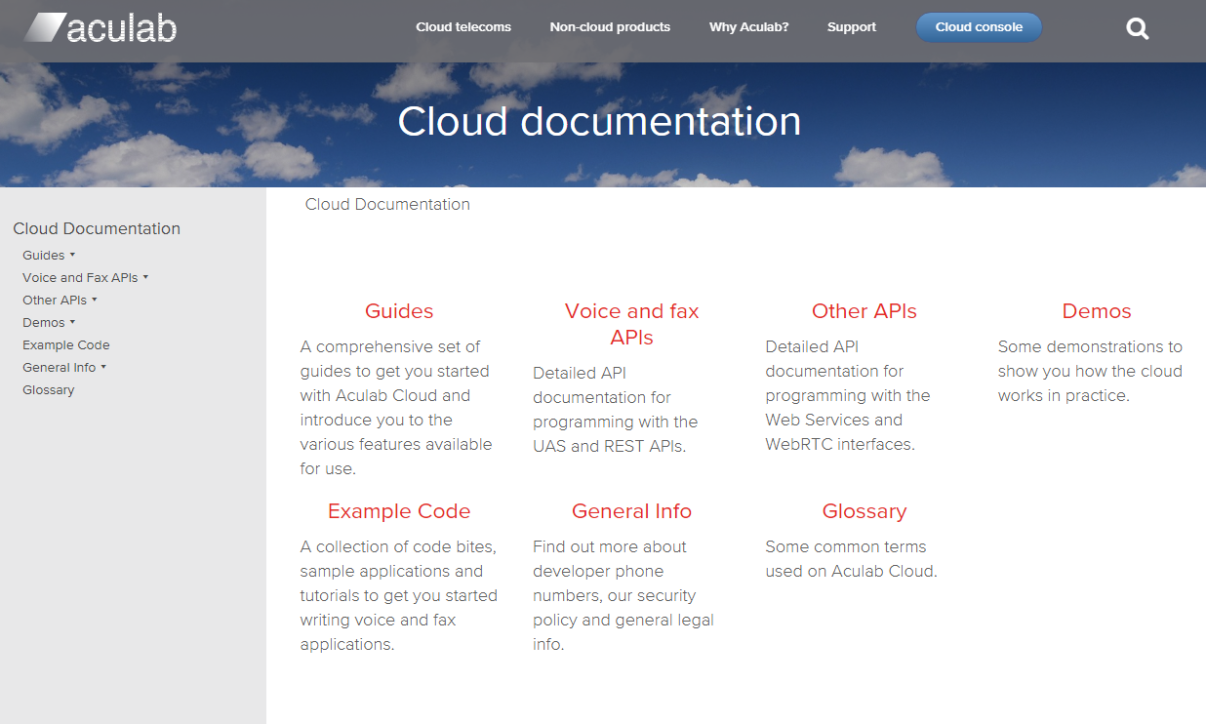 documentation cloud APIs